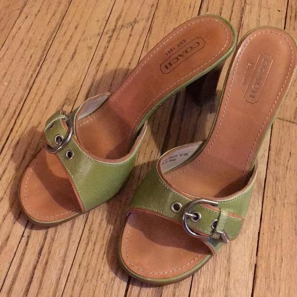 646ce773df01 Coach Shoes - COACH Daryn Leatherware Slide Heel Sandals 9.5